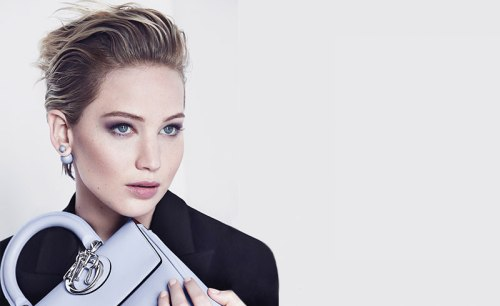 Jennifer Lawrence, Dior earringsTribale Collection Fall 2014