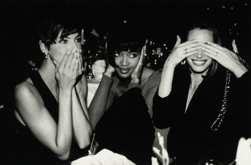 Linda Evangelista, Naomi Campbell, Christy Turlington by Roxanne Lowit in the '90s