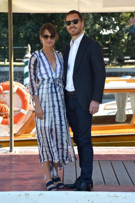 Alicia Vikander and Michael Fassbender at Venice Film Festival 2016