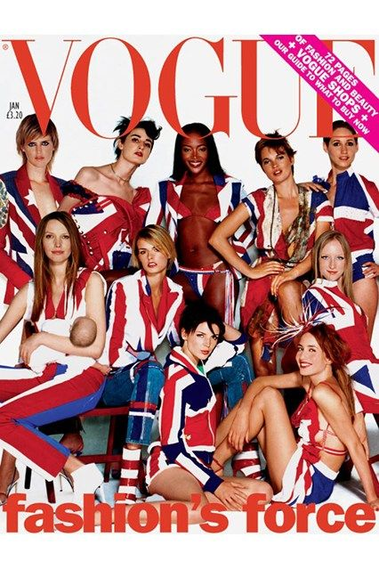 Union Jack Cover UK Vogue, January 2002