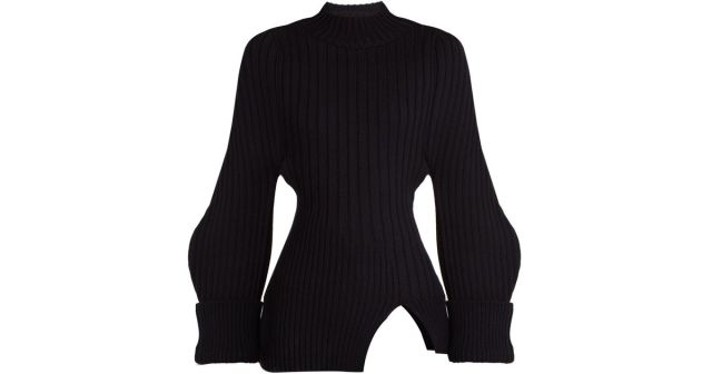 jacquemus-NAVY-La-Maille-Pablo-Ribbed-knit-Wool-Sweater