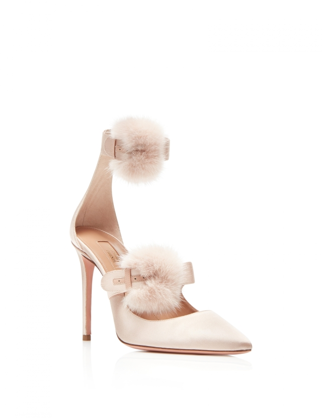 Aquazzura-D'orsays-Sinatra-pump-105-Powder-pink-Satin-Front